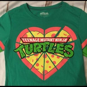 TMNT Heart Pizza Tee